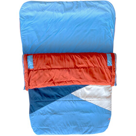 Marmot Idlewild Doublewide Sleeping Bag Regular, cascade blue/picante